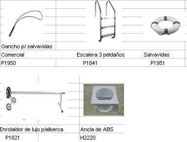 Accesorios para alberca hidrosistemas monterrey sa de cv for Accesorios para albercas monterrey